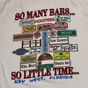 Key West Single Stitch Vintage 90s Bar Tee Large